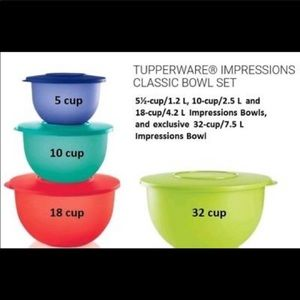 Tupperware Impressions 4 piece bowl set